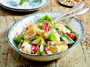 Kartoffelsalat mit Dill und Meerrettich Rezept