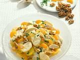 Kartoffelsalat mit Früchten, Huhn und Currysoße Rezept