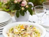 Kartoffelsalat mit geräucherter Forelle und Ei Rezept