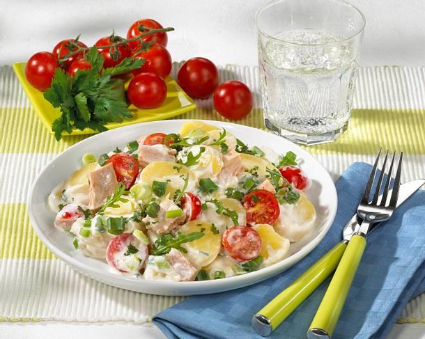 Kartoffelsalat mit Thunfisch und Rauke Rezept