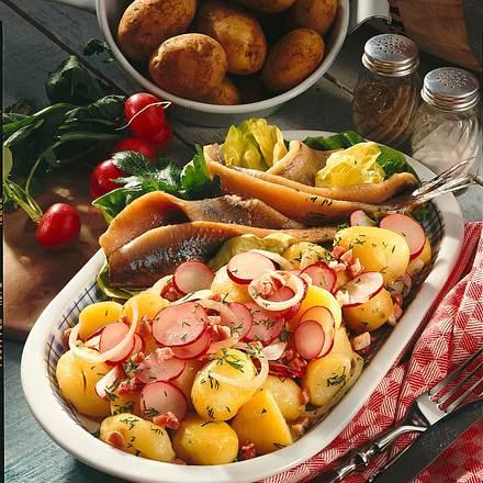 Kartoffelsalat und Matjes Rezept
