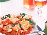 Kartoffelschmarrn mit Hähnchengeschnetzeltem Rezept