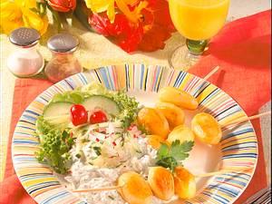 Kartoffelspieße mit Kräuterquark Rezept