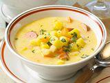 Kartoffelsuppe mit Würstchen Rezept