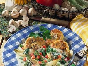 Kartoffeltaler mit Lauchzwiebel-Gemüse Rezept