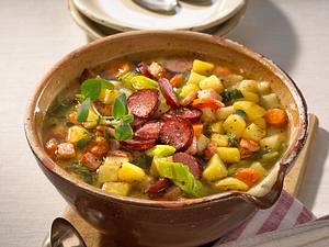 Kartoffeltopf mit Cabanossi Rezept