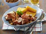Kasseler-Kräuter-Röllchen mit Champignonrahm Rezept