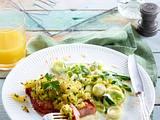 Kasseler-Steak zu Porree-Rahmgemüse Rezept