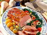 Kasselerbraten mit Kräuter-Frischkäsefüllung Rezept