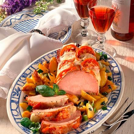 Kasselerbraten mit Mozzarella und Tomaten Rezept