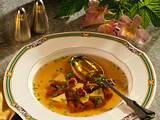 Klare Pilzsuppe mit Eierstich Rezept