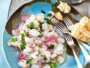 Klassische Ceviche aus Kabeljau Rezept