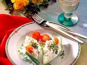 Kleine Gurkenhappen (kalorienarm) Rezept