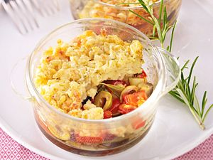 Kleine Sommerliche Gemüse-Crumble mit Ebly-Kruste Rezept