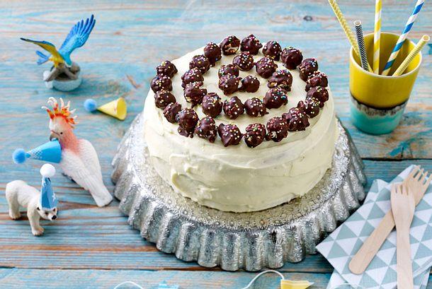 Kleine Vanille-Popcorn-Torte Rezept