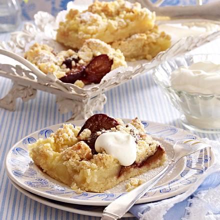Klönschnack-Streuselkuchen mit Apfel und Pflaume Rezept