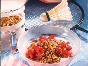 Knusper-Schoko mit Himbeeren Rezept