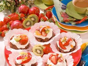 Knusper-Törtchen mit Früchten Rezept