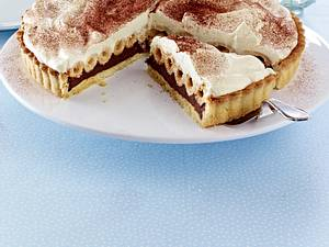 Knusperröllchen-Tarte mit Schokocreme Rezept