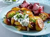 Knusprige Bratkartoffeln mit Kräuter-Quark-Remoulade Rezept