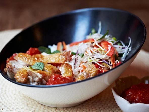 Knuspriges Ofenhuhn mit Tomaten-Chili-Marmelade Rezept