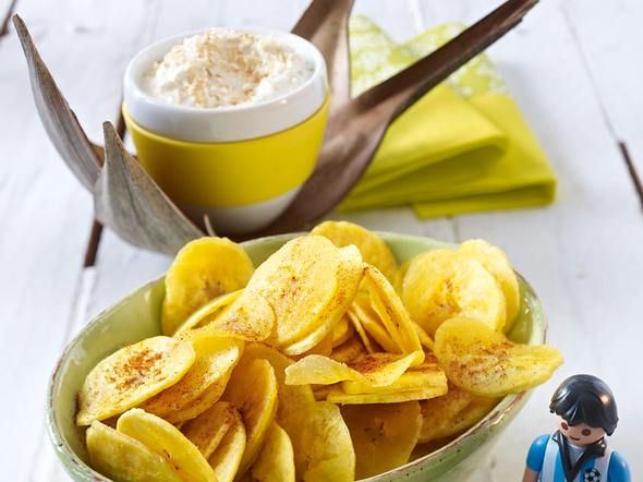 Kochbananenchips mit Kokos-Ingwer-Dip Rezept