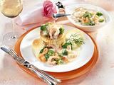 Königin-Pastete mit Broccoli und Krabben-Ragout Rezept