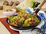 Kohl-Kartoffelpfanne mit Schinken Rezept