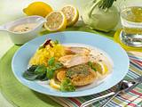 Kohlrabi-Cordon Bleu mit Zitronen-Bechamel Rezept