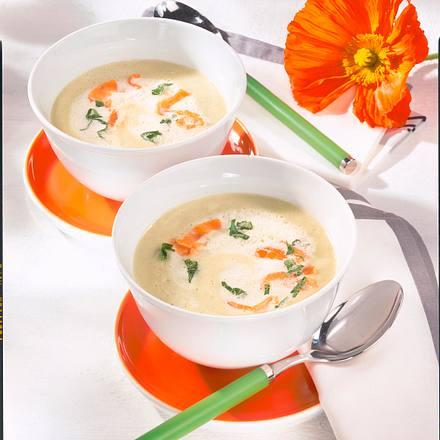 Kohlrabi-Creme-Suppe mit Räucherlachs Rezept