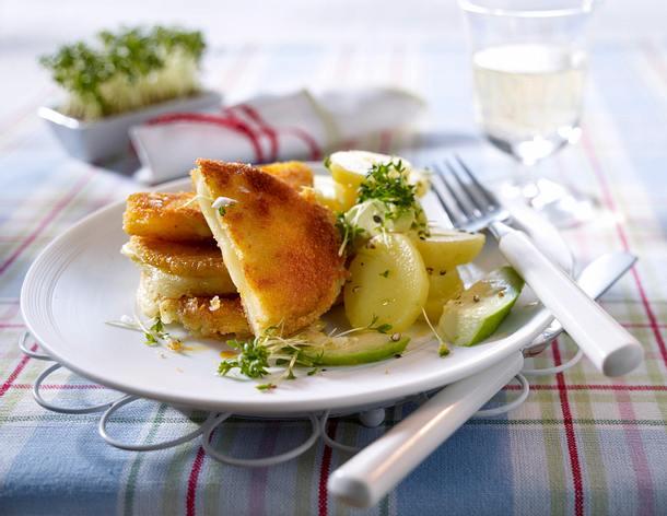 Kohlrabi- Käse-Schnitzel Rezept