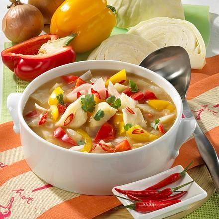 Kohlsuppe mit Chili Rezept
