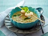 Kokos-Cremesuppe mit Apfelwürfel zu Garnelenspieß Rezept