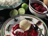 Kokos-Kirschen mit Vanille-Eis Rezept