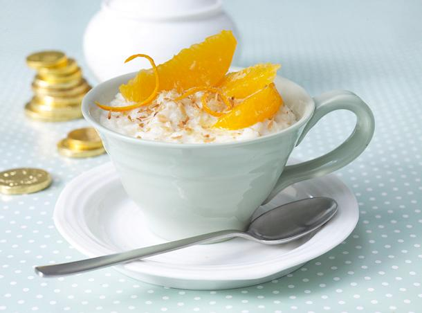 Kokos-Milchreis mit Orangenfilet Rezept