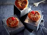 Kokos-Vanille-Muffins mit Himbeeren Rezept
