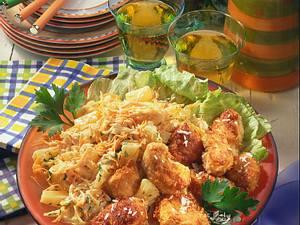 Kokoshähnchen mit Farmersalat Rezept