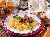 Kokosmakronen mit marinierten Orangenfilets Rezept