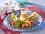 Kokosnuss-Pudding mit exotischen Früchten Rezept