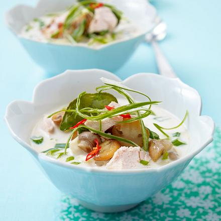 Kokossuppe mit Hähnchen Rezept