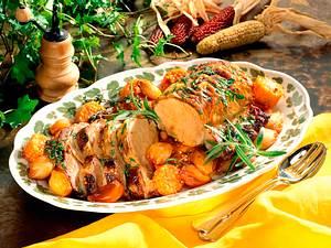 Kotelettbraten mit karamellisiertem Gemüse Rezept