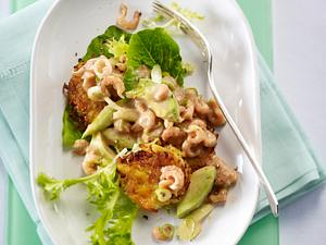 Krabbensalat mit Mini-Rösti und Frisée-Salat Rezept