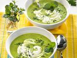 Kräuter-Erbsen-Cremesuppe Rezept