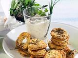 Kräuter-Kräcker mit Schmand-Dip Rezept