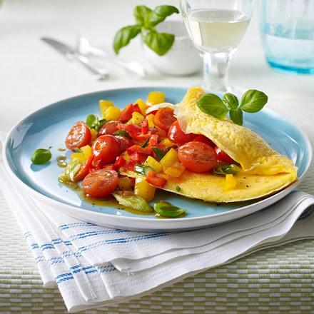 Kräuter-Omelett mit Gemüse Rezept