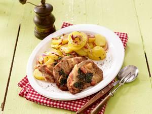 Kräuter-Schnitzel mit schwäbischem Kartoffelsalat Rezept