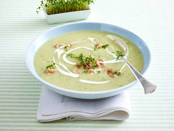 Kresse-Cremesuppe mit Krabben Rezept
