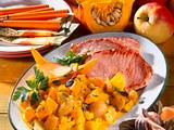 Kürbis-Apfel-Curry zu Kasseler Rezept