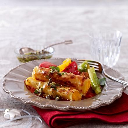 Kürbis-Cannelloni mit Röstgemüse Rezept