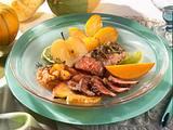 Kürbis-Chutney zu Lammlachse und Röstkartoffeln Rezept